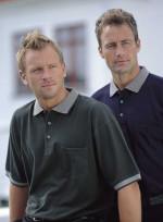 Polo T-shirt med kontrast